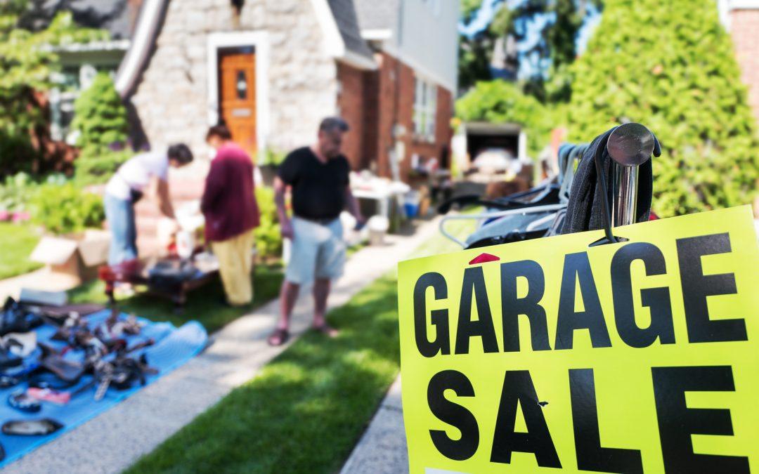 Moving Tip: Garage Sale Helps you Lighten up your  Load